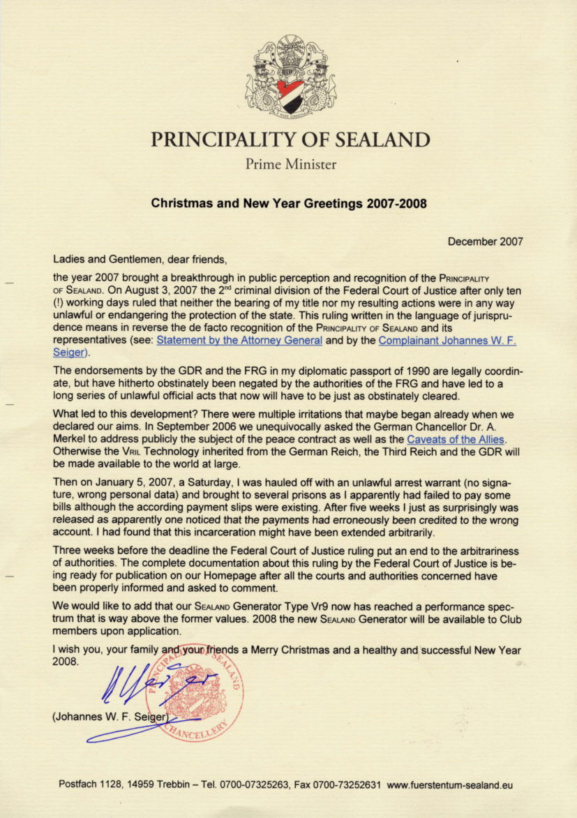 Welcome To The Principality Of Sealand The Official